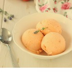 Ijs van abrikozen en nectarines