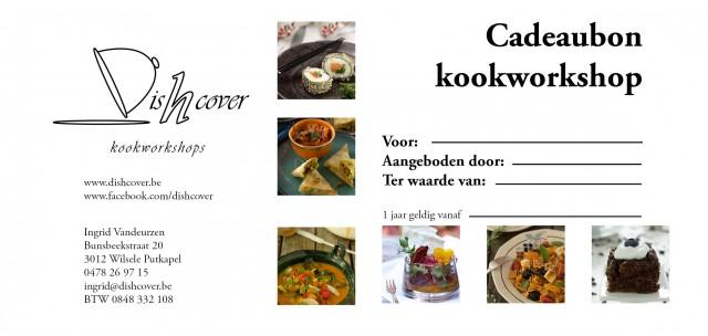 cadeaubon kookworkshop Dishcover