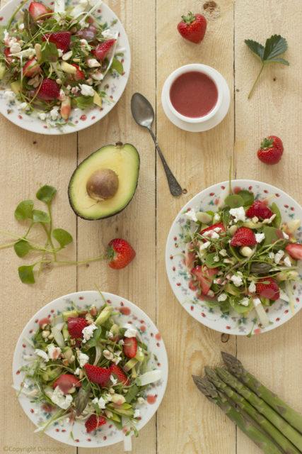 Menu voor Pasen - Aardbei asperge salade
