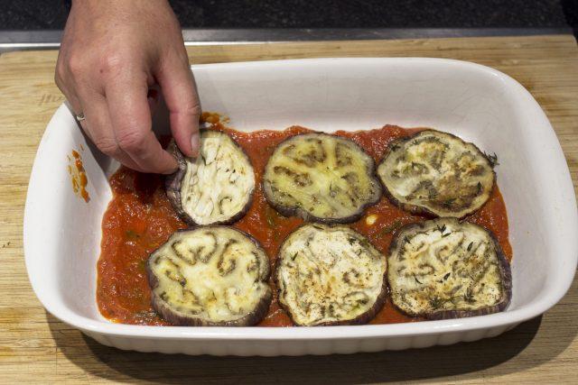 Melanzane alla parmigiana - laag aubergine