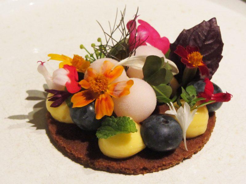 dessert restaurant Hertog Jan bloementaartje