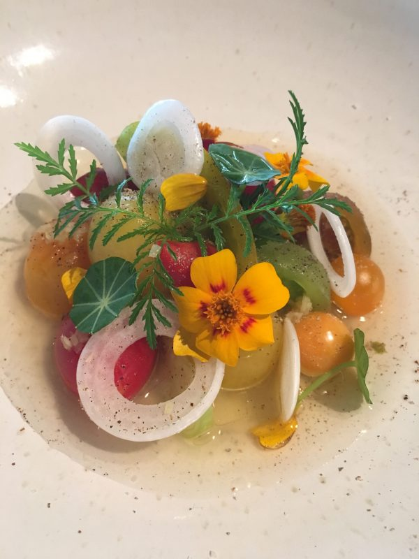 voorgerecht 1 restaurant Hertog Jan collectie tomaten zomer 2016 verse kaas en citrusafrikaan