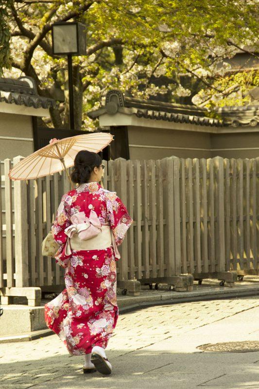 Vrouwen in kimono