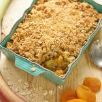 Rabarbercrumble met havermout