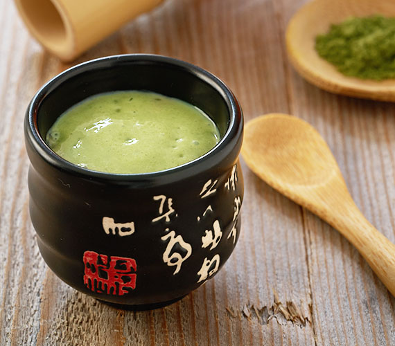 Matcha tofu pudding