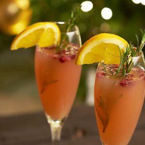 Cranberry-ginger ale mocktail