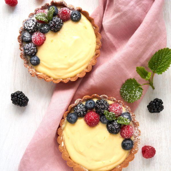 Fruittaartjes met crema catalana recept