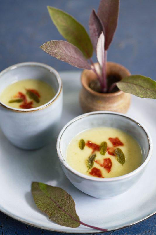 Aardappel-salie-soepje